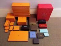 Collection: Hermes, Chanel, Louis Vuitton, Ferragamo, Loro Piana, D&G - Empty boxes & shopping bags