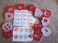 12 biscuit cutters / stencils - unused