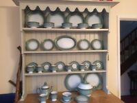 Large collection of Denby Stoneware crockery. Blue/Green colour