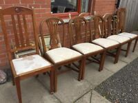 6 x WOODEN CHAIRS VERY GOOD CONDITION FROM SMOKE/PETS FREE HOUSE