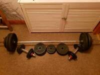 JOE WEIDER VINTAGE CAST IRON WEIGHTS/BARS