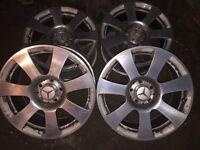 "17"" Genuine Mercedes S Class Alloy Wheels W221 A2214010202 8J 5x112"