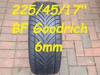 "225/45/17"" BF Goodrich Tyre 6mm"