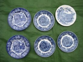 6 Wedgwood/Ironstone Decorative Small Plates for £6.00