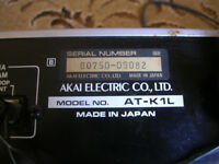 Akai tuner AT – K1L – rack fitting normally but not essential. Very high quality.