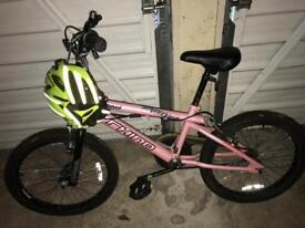 Pink Rhino BMX Bike and Helmet £20