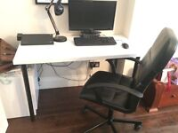 Office desk and chair at central London