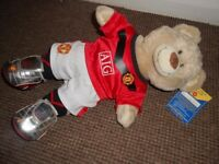 build a bear bnwt , in man united football outfit