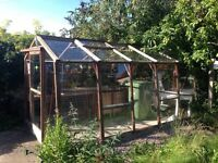 HARDWOOD FRAME GREENHOUSE