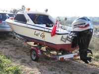 Classic Taylor 4.9 ( 15 foot) GRP sports boat. also for cruising or fishing with 60hp new engine.