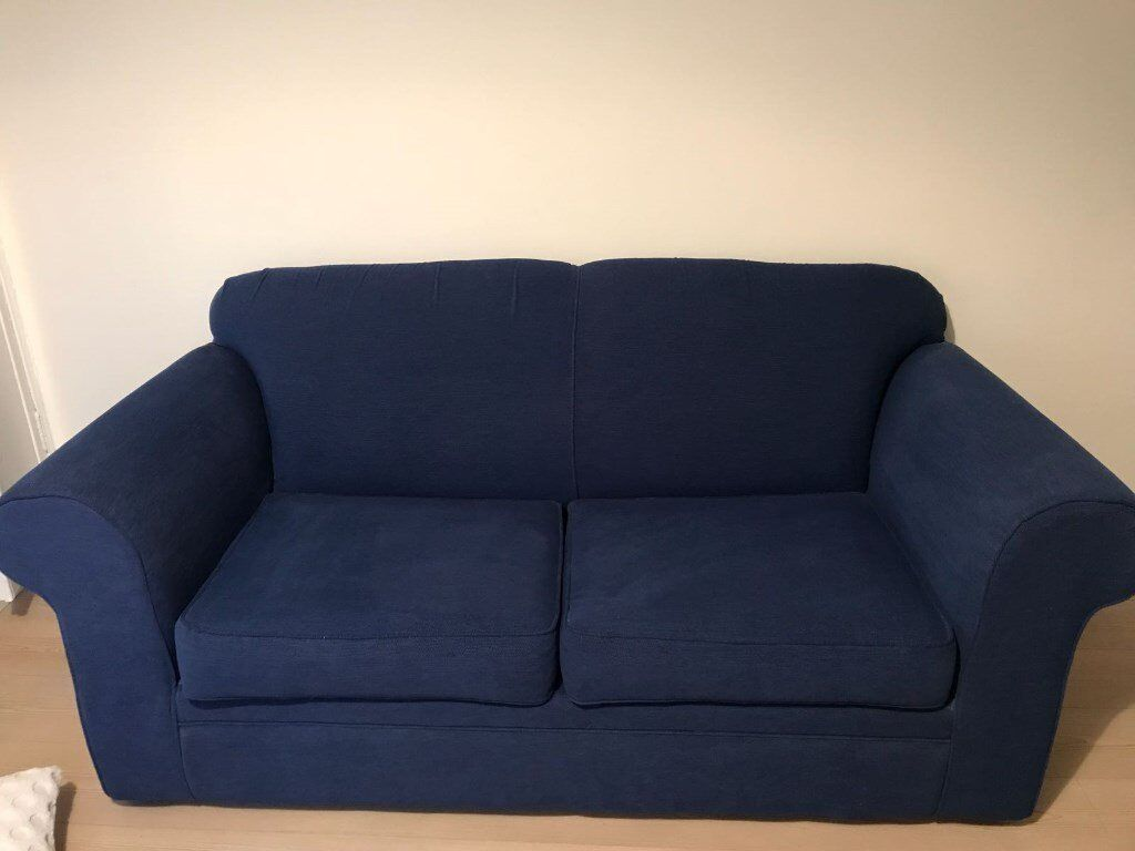 Blue pull out sofa bed excellent condition as hardly used £60