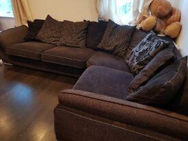 Black l shaped sofa