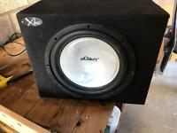 Subwoofer, box and amplifier