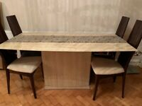 Dining table - marble finish