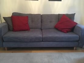 3-4 seater sofa and matching armchair