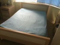 Double bed wooden frame and mattress collect only