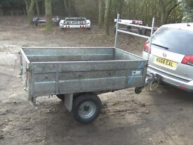 FULLY GALVANISED 6X4 APPROX CAR TRAILER DROPSIDES/TAIL NICE STRONG TRAILER..