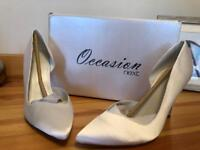 Cream wedding shoes