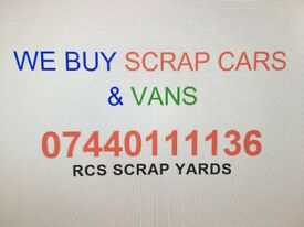 We buy any Scra car or van
