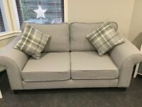 DFS 'Angelic' 2 seater, armchair and storage footstool