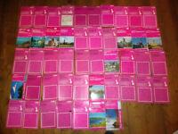 Ordnance Survey OS Landranger 1:50000 Maps Pink Cover Job Lot Of 47