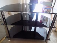 Glass t v table