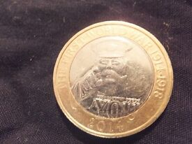 World War 1 £2 Coin - 2014 - Rare with minting errors