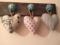 Decorative heart cushions