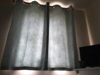 Eyelet Top - Duck Egg Blue Curtains