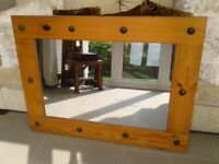 Mirror with solid wood surround