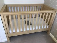 Mamas & Papas Horizons Nursery Furniture (inc cot bed, single wardrobe, dresser drawers & shelf)