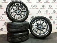 """GENUINE BMW 19"""" X5/X6 ALLOY WHEELS & TYRES - GLOSS GREY"""