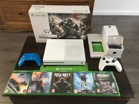 Xbox One S Console 1TB Gears of War 4 Inc 5 Games / 2 Controllers