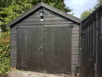Tandem Wooden Garage (33'9 x 9'5) for sale