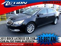 2015 BUICK LACROSSE LEATHER Gr.cuir,toit pano,V6,Bluetooth