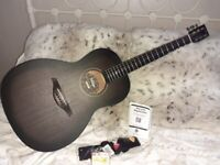 Full Quality starter package..Beautiful new in box Vintage whisky barrel parlour acoustic guitar