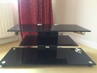 Glass TV stand - 33.5 inches