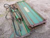 Job lot of fraser trailer sides and twin rams farm tractor
