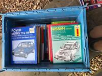 Full crate of Haynes manuals all sorts in there