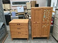 Wooden Chest of Drawers and Wardrobe