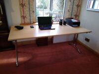 Folding Table / Desk in Beech and Chrome
