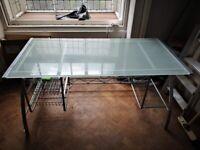 Good quality glass top desk