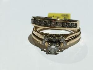 #144 14K LADIES ENGAGEMENT RING WITH MATCHING BAND *SIZE 7 1/4* JUST BACK FROM APPRAISAL AT $5150.00 SELL FOR $1750.00!