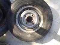 "Mini wheels, genuine 10"", suit car or trailer"