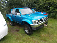 wanted toyota hilux pickup any condition 4x4 or 2wd