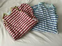 Gro Store 2.5tog sleeping bags. Red & blue stripe 6-18 months
