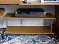 TV / DVD 2-shelf wood-effect stand on wheels