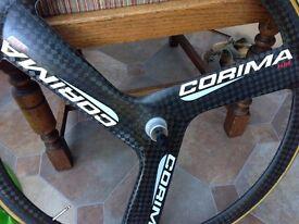 Cycling racing corima wheel shimano tri-spoke rear wheel