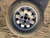 VW golf M1 alloys Tarantula set of 4