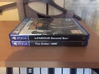2 PS4 games cheap price, inFAMOUS Second Son & The Order: 1886